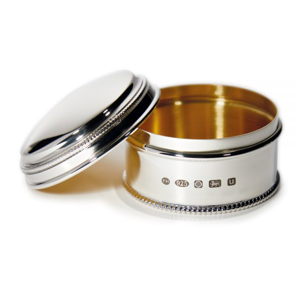 Small Silver Bead Box