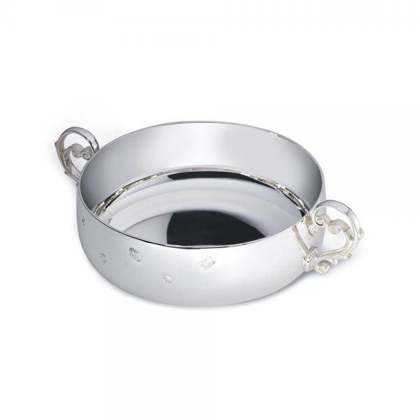 Extra Heavy Silver Jersey Bowl Small