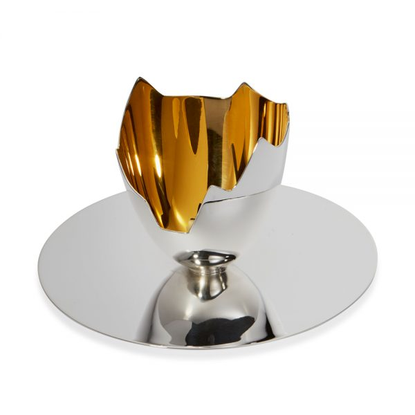 Egg cup on plate