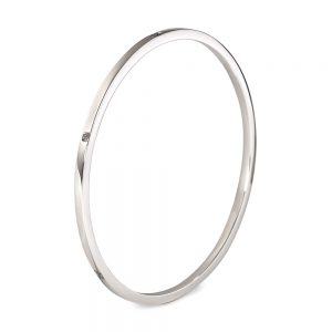 Silver Square Bangle 3mm