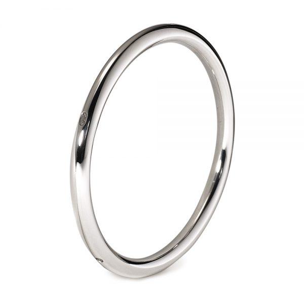 Silver Extra Heavy Round Bangle