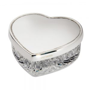 Silver and Crystal Heart box