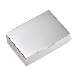 Silver Heavy Rectangular Pill Box