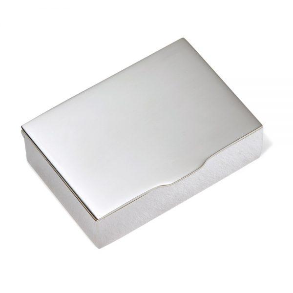 Silver Heavy Rectangular Pill Box