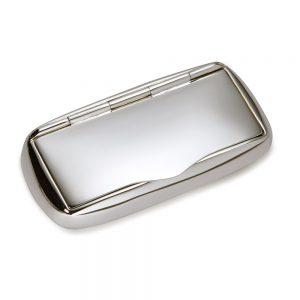 Silver Oblong Pill Box