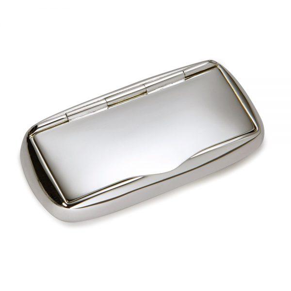 Silver Oblong Pill Box