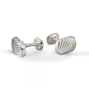 Oblong Cufflinks Candy Swirl 1