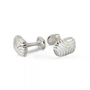 Silver Oblong Cufflinks Zebra