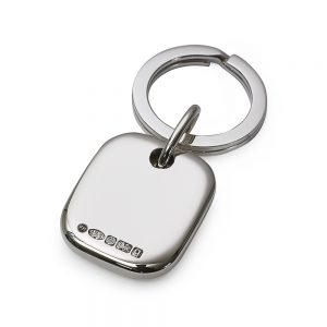 Silver Block key Ring