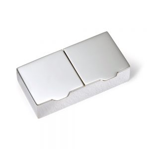 Silver Heavy Double Pill Box