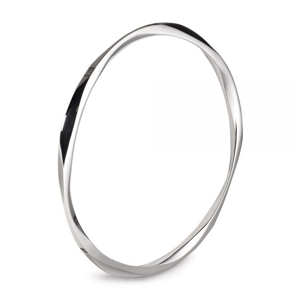 Silver Orbital Bangle