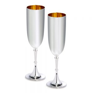 Silver Champagne Flutes D301