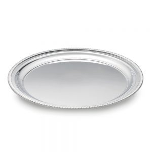 Silver Plated Gadroon Waiter - 11429