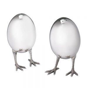 Eggs on legs salt and pepper