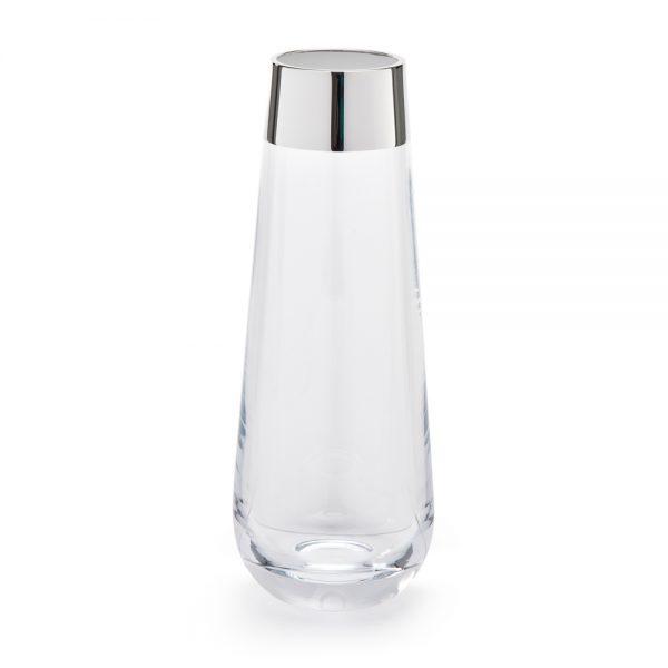 Silver and glass vase - T182