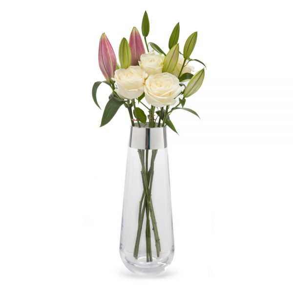 Silver glass vase - T182